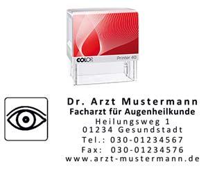 Augenarzt Stempel