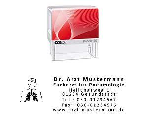 Lungenarzt Stempel