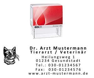 Tierarzt Stempel
