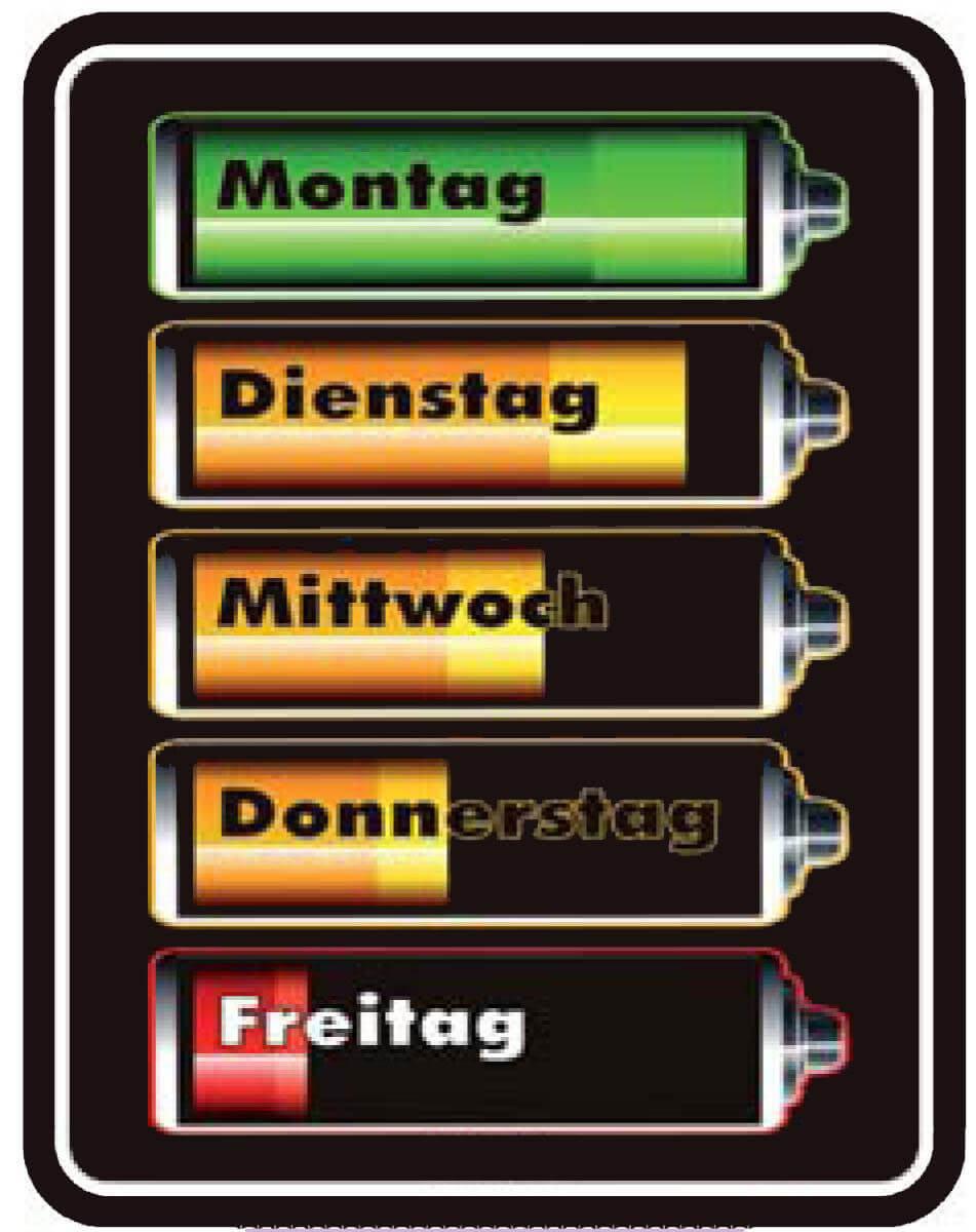 Funschild Batterien