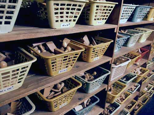 Holzstempel Lager - über 70 verschiedene Stempelgrößen