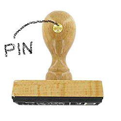 Holzstempel mit Pin zur Ausrichtung