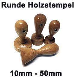 Runde Holzstempel individuell gestalten und bestellen