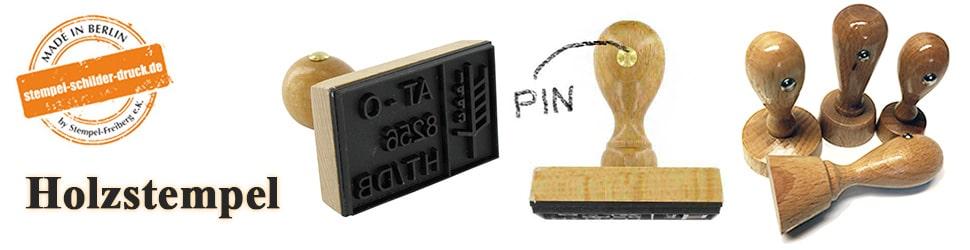 Holzstempel - Stempel aus Holz einfach online gestalten