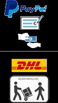 Stempel-Schilder-Druck.de liefert per DHL, Selbstabholung, Vorkasse, Barzahlung, Paypal, Rechnung!